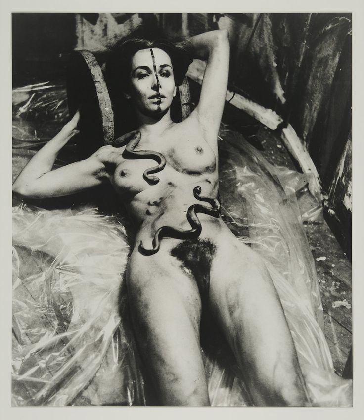 "Carolee Schneemann, ""Eye Body (From 36 Transformative Actions for Camera),"" 1963/1985, Black and white photograph"