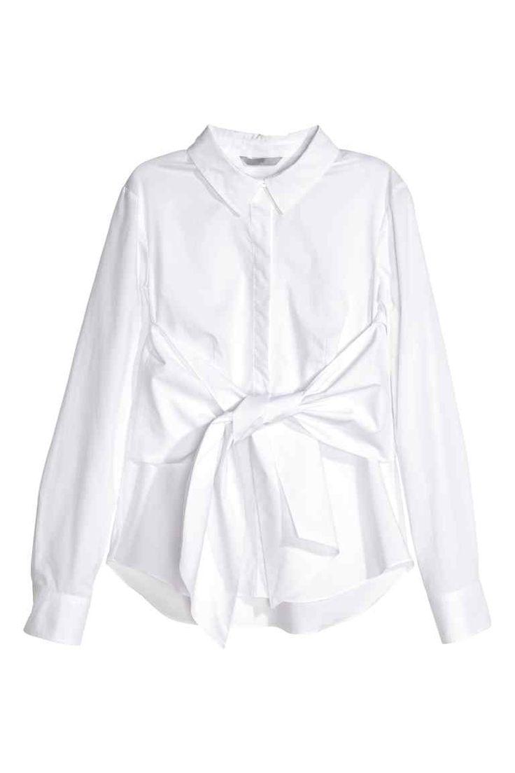 Camicia in cotone con fascia | H&M
