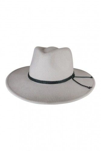 FELT FEDORA WITH TWISTED TIE SILVER  If you're a fan of 70s boho style or are simply a bit of a groover at heart you are going to absolutely LOVE this beautiful felt hat. Perfect for weekend dress ups, city strolls or jaunts to the country. Hat