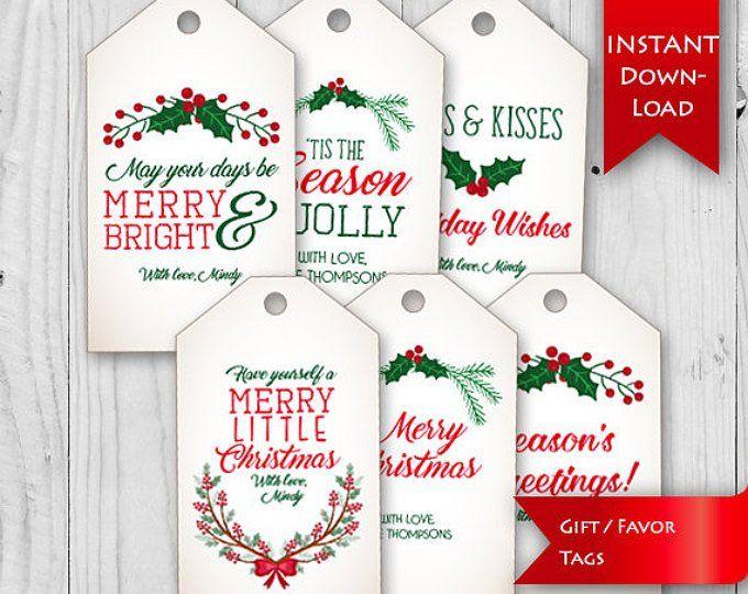 On Sale Movie Night Tag Christmas Gift Idea Teacher Neighbor Christmas Gift Tag Redbox Gift Certificate Tags Editable Instant Downl Christmas Gift Tags Holiday Treats Christmas Christmas Favors