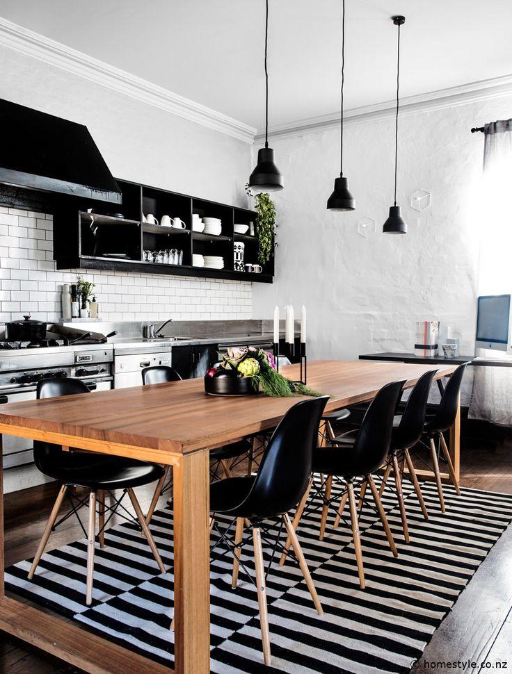 Cuisine-chaise-eames-noire