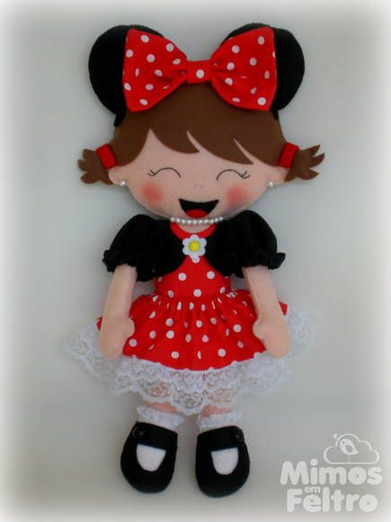 Boneca Minie | Mimos em Feltro By Marisa | 34FD1C - Elo7