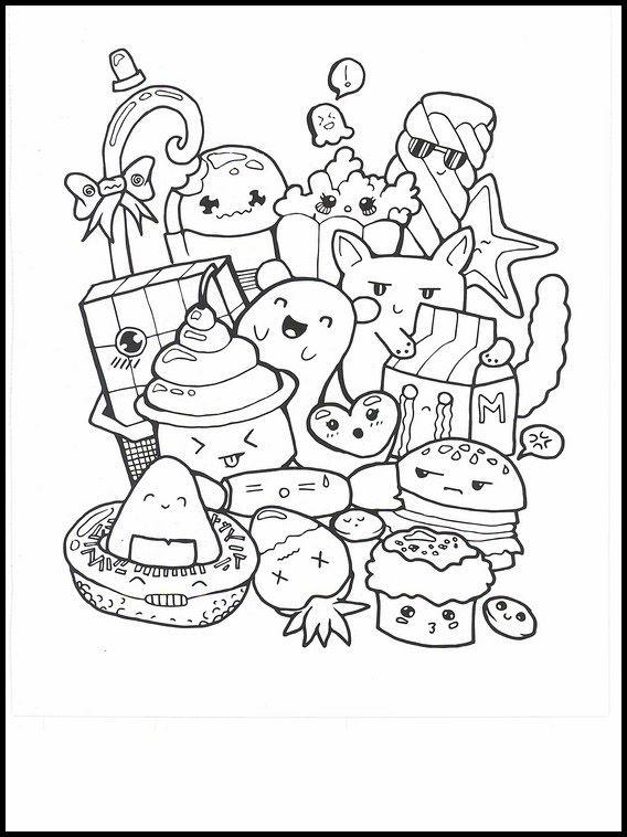 kawaii 2 ausmalbilder für kinder malvorlagen zum
