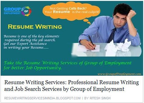 Professional Resume Writing and Job Search Services by @GroupofEmployment http://goo.gl/I9Rjsxdate