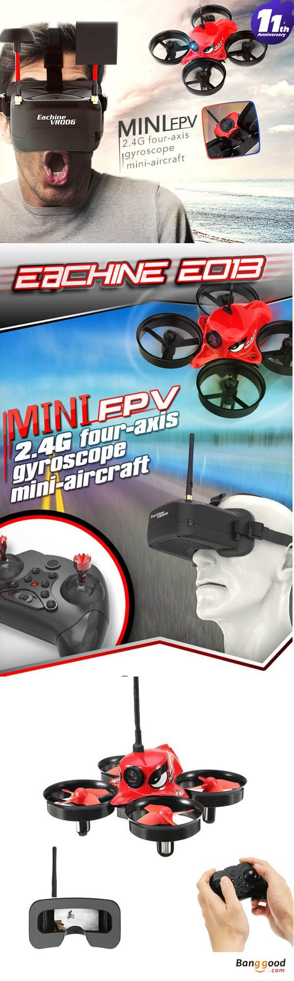 US$35.99~65.99 + Free shipping. Eachine E013 Mini Quadcopter. FPV first-person view(indoor racing drone). Breakthrough conventional wind blades, the flight stability is more powerful. See more.