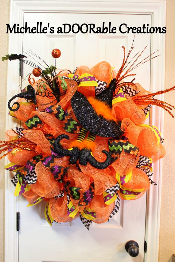 Halloween Witch Legs Wreath Wtich Legs and by MaDoorableCreations, $95.00