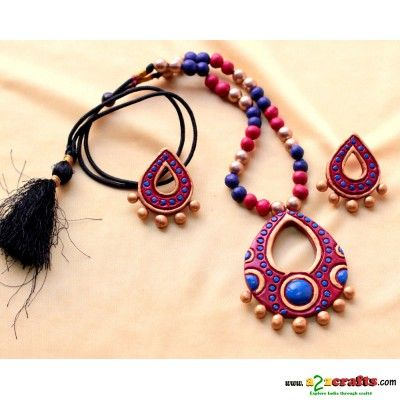 Terracotta Jewellery - Terracotta - Rs. 525 - Hand Made Crafts - Buy & Sell Indian Handmade Crafts and Handmade terracotta, dokra Jewelry and Gifts