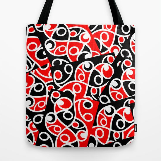 Maori Kowhaiwhai Patchwork Pattern Tote Bag by Mailboxdisco