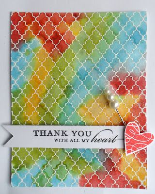 Distress Stains and hero arts lattice stamp. Could use embossing folder instead of lattice stamp.