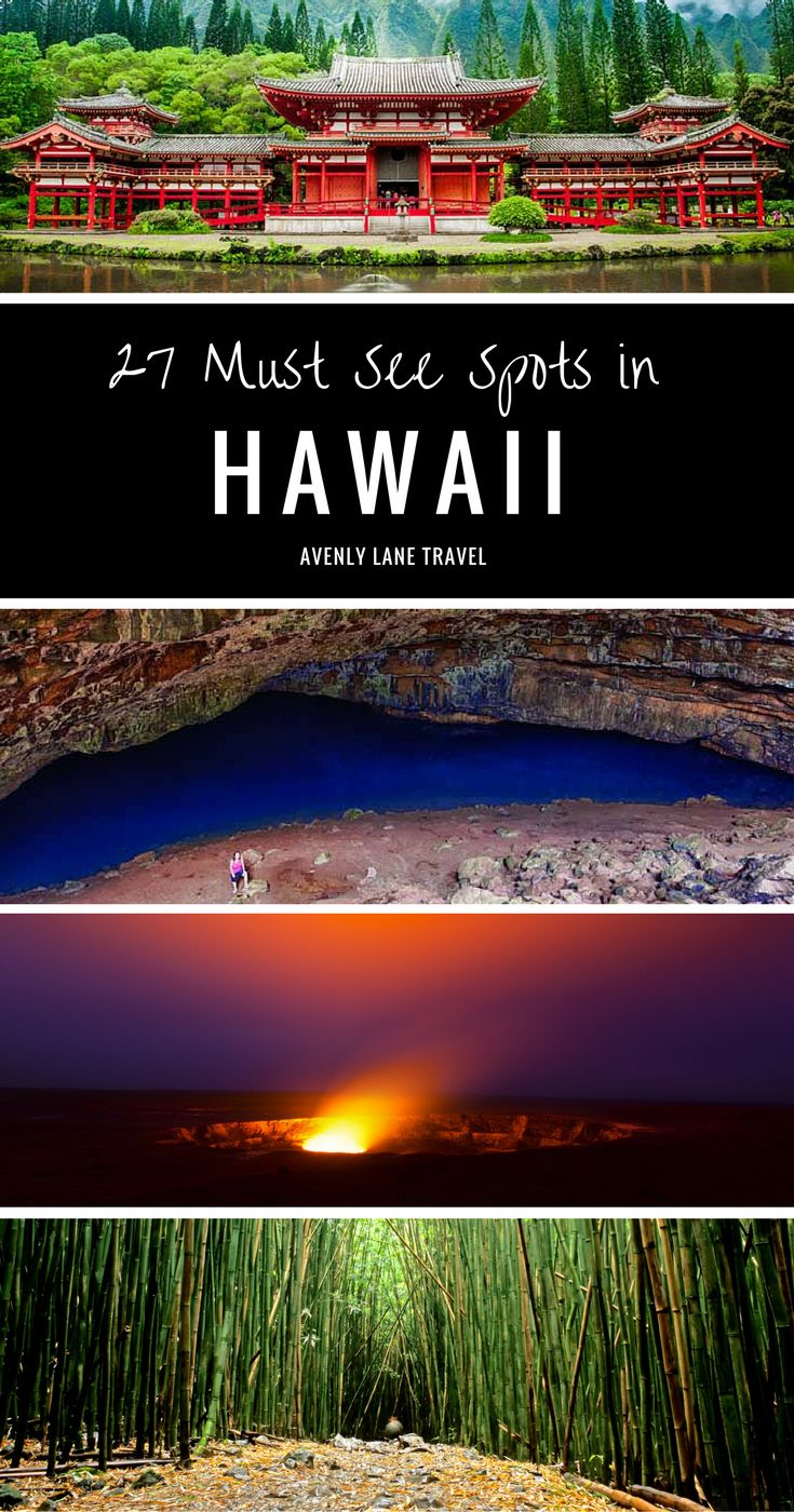 27 Places in Hawaii you have to see on your Hawaiian vacation!  See the best on the islands of Oahu, The Big Island, Maui and Kauai.