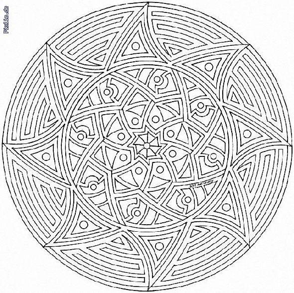 ausmalbilder mandalas 10 | einhorn zum ausmalen