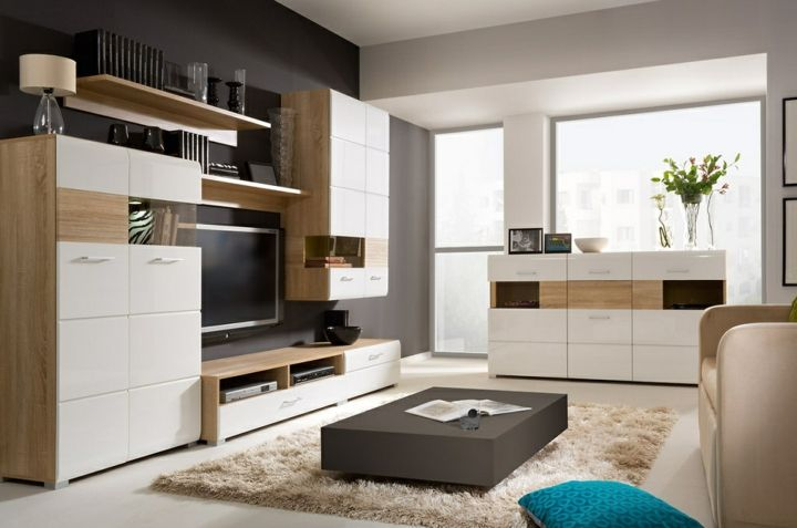 Wohnzimmer Wohnwand Wohnen Schrankwand Wohnwand