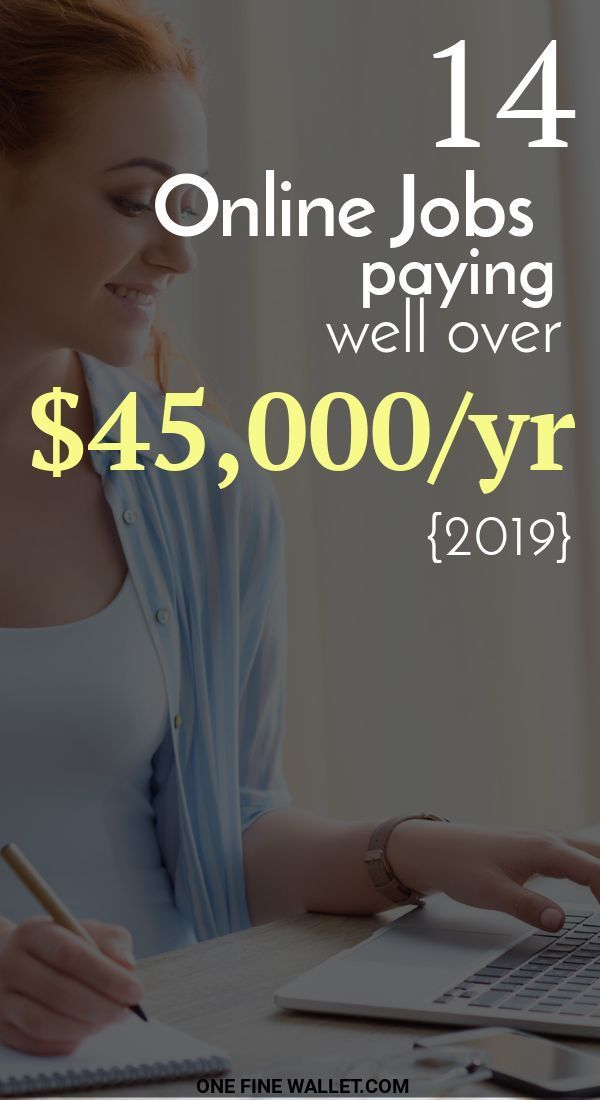 14 High Paying Online Jobs from Home {2019} – over $45,000/mo If you are looking… – Designer.ca