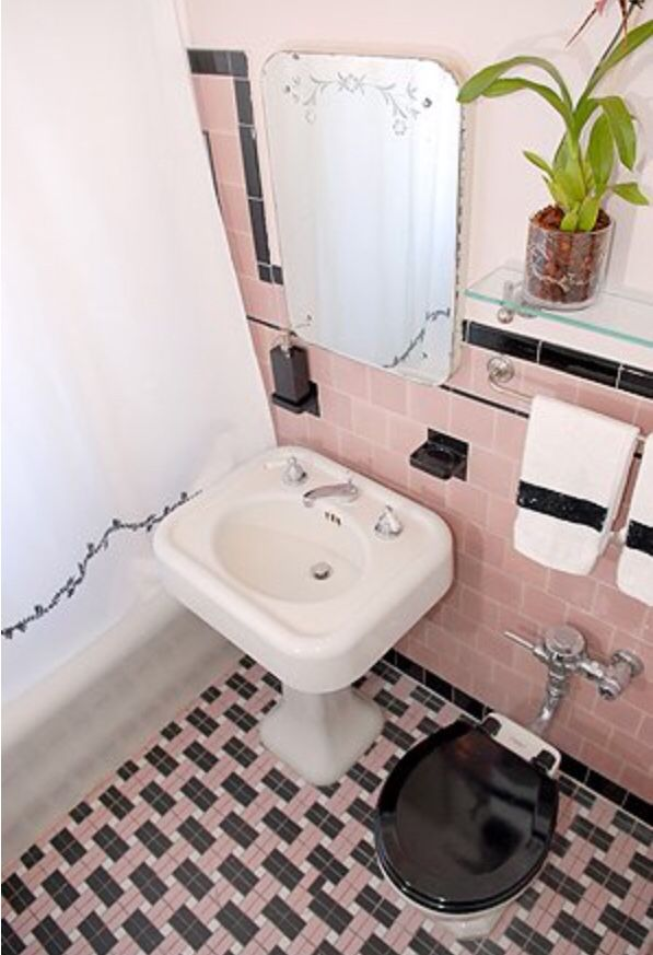 vintage tile bathroom pink retro bathroom pink bathrooms retro 14968