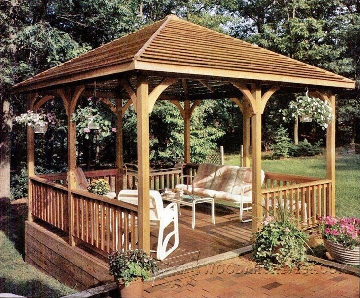 1000 ideas about gazebo plans on pinterest outdoor for Plans for gazebo with fireplace