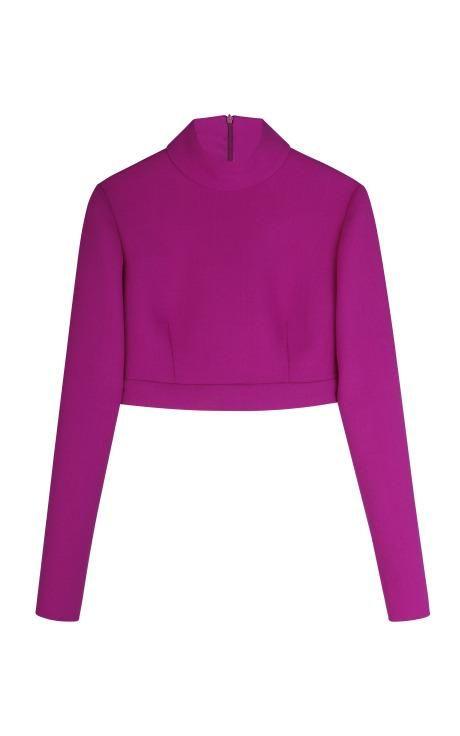 Pink Wool Top by Barbara Casasola for Preorder on Moda Operandi