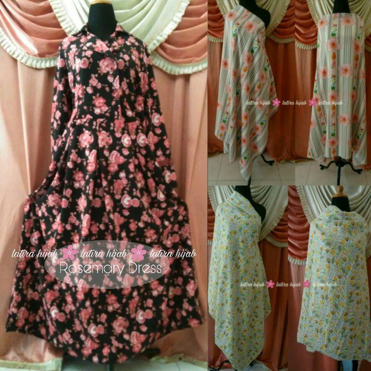 Rosemary Dress. Abaya motif. Kerah jas. Price IDR 235.000  Order +6282234612290
