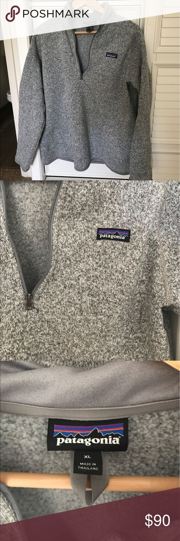 Patagonia better sweater Gently used-worn twice women's better sweater. I got this in an XL for a roomier fit. Great sweater definitely keeps you warm. I'm downsizing my closet. Bought this 6 months ago and I just don't wear it like it deserves! Patagonia Sweaters
