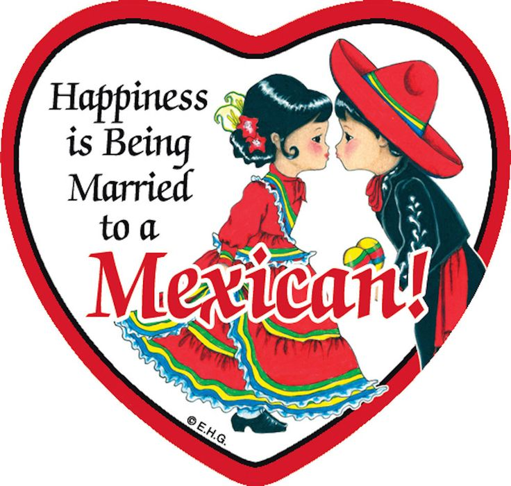 Magnetic Heart Tile: Married to Mexican