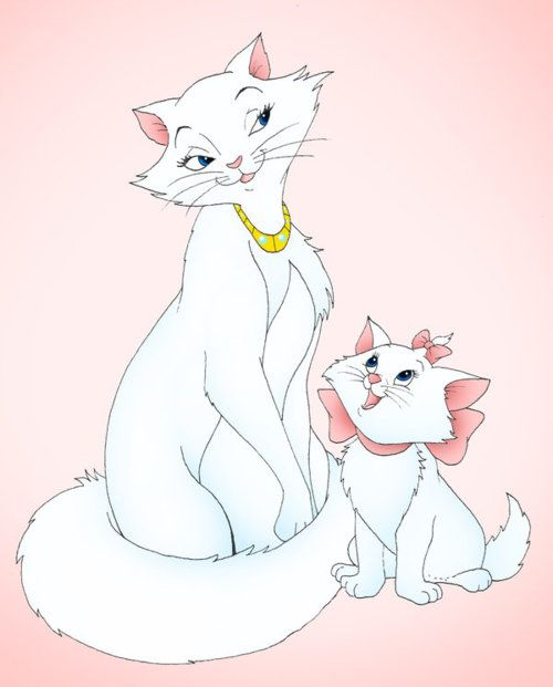 The Aristocats (which are both Turkish Angoras, just like White Fang!)