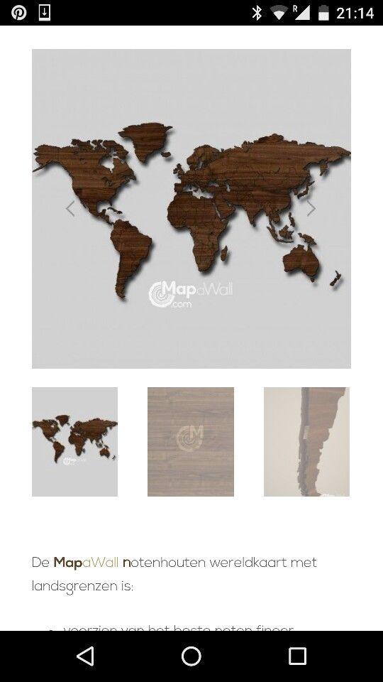 Magnetische wereldkaart!