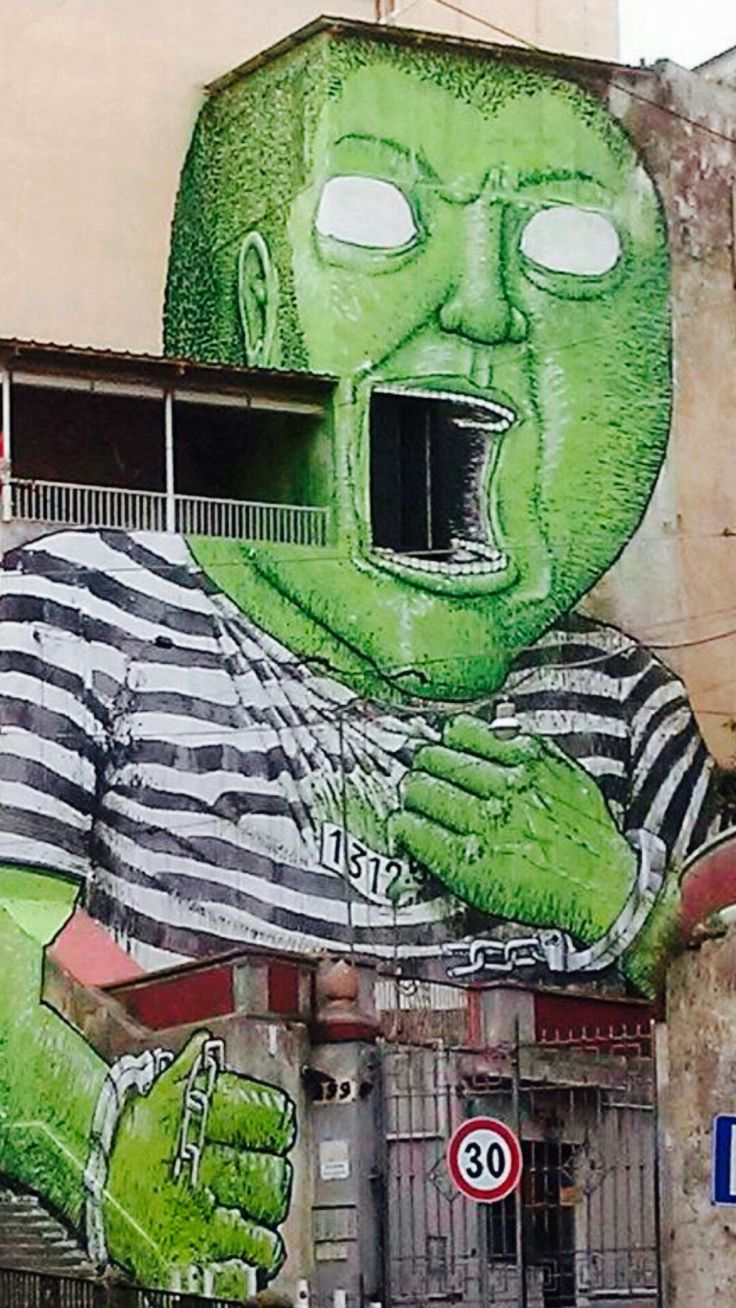 Street Art by Blu, located in Napoli, Italy