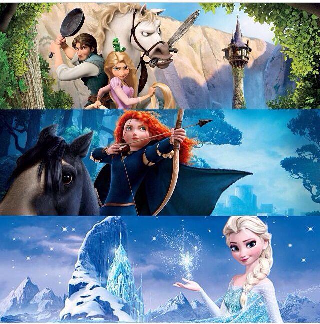 Tangled, Brave, & Frozen | Walt Disney ♥♡ | Pinterest ... Frozen Tangled Brave