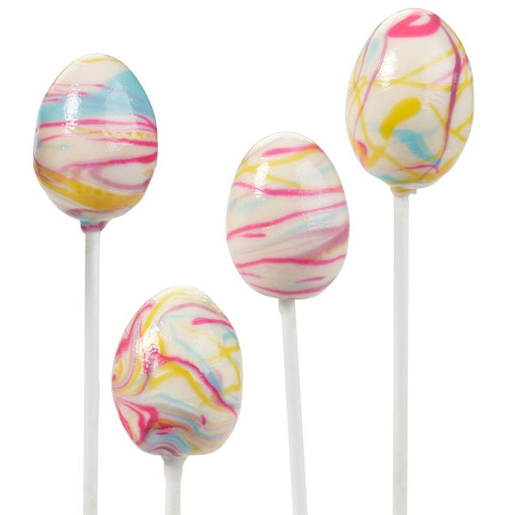 Decorate your own delicious egg-shaped cake pops for Easter. Colorful Candy Melts candy makes the perfect ?dye.?