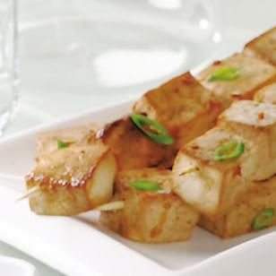 Indonesian Tofu Sate. This flexible recipe works with tofu or chicken. If serving a group with some vegetarians and some meat eaters, prepare half chicken and half tofu and marinate them separately. -- EatingWell.com 4 Week Weight Loss Plan