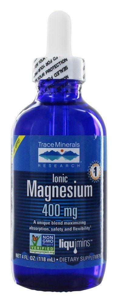 Trace Minerals Research - Liquimins Ionic Magnesium 400 mg. - 4 oz.