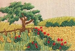 Sew Inspiring : Landscapes & Cottages Embroidery Kits, Crewel Work Embroidery Kits