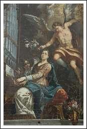 Santa Cecilia firmata d z f datata 1733