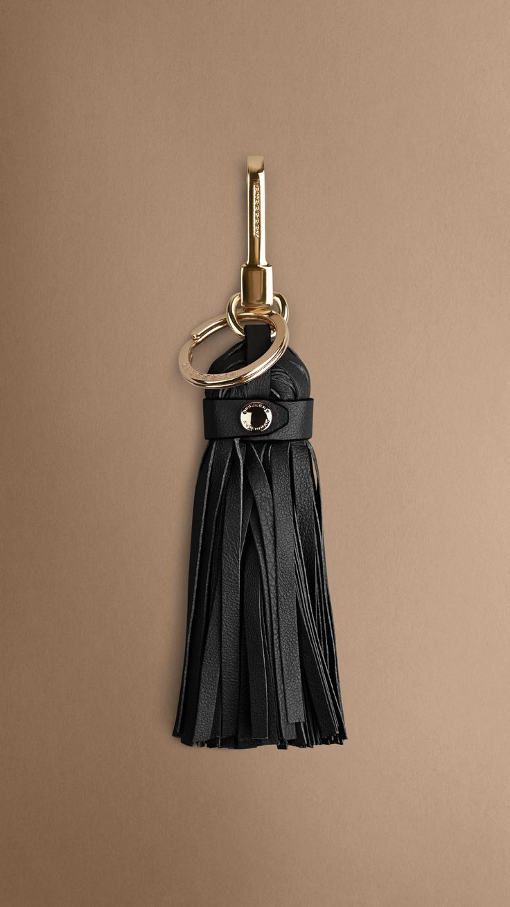 Tassel key charm in soft nappa leather. Find the perfect gift this festive season at Burberry.com #burberrygifts #christmas