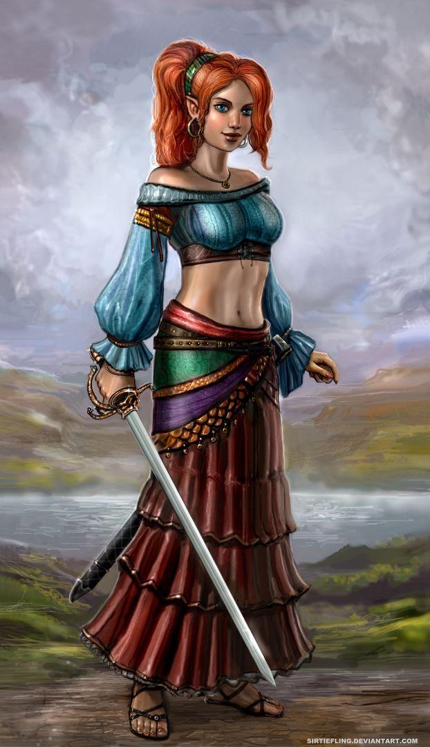 Elf or half elf gypsy//Malia the Swashbuckler by SirTiefling on deviantART