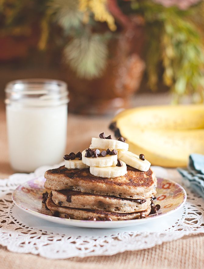 Whole wheat pancakes/waffles. Especially yummy with blueberries or ...