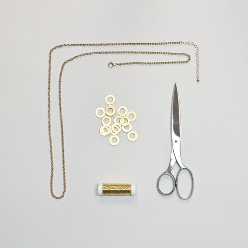 DIY Kette aus Baumarkt-Utensilien - Schritt 1