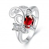 R083-B-8  Silver plated fashion ring for women jewelry accessories nickle free NHKL6316-B-8