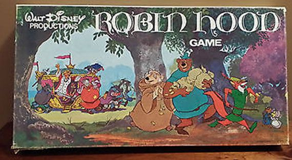 Vintage c.1975 and RARE Robin Hood board game by by BuyfromGroovy