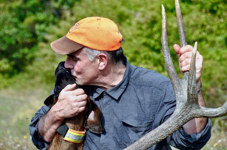 A caccia di selezione sull'appennino ove tre cacciatori saranno impegnati in una battuta di caccia al cervo ausiliati da un cane da recupero bavarese.