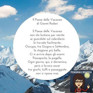 Pedagogia e didattica: un blog: Il paese delle vacanze, poesia di Gianni Rodari