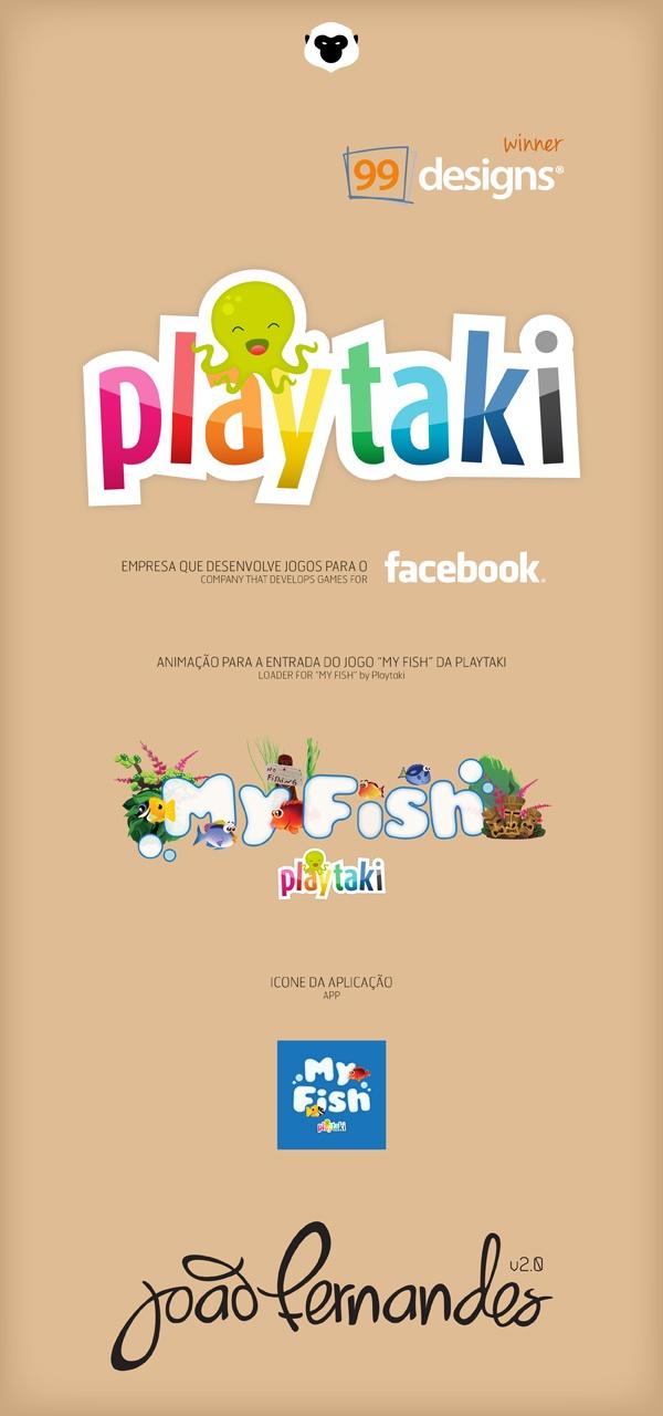 Playtaki Logo concept by João Fernandes, via Behance