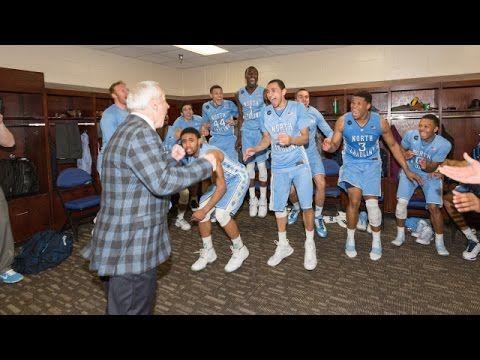 UNC Men's Basketball: Locker Room Celebration Post Virginia - ACC Tourna...