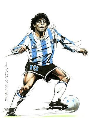 On the move: Diego Maradona