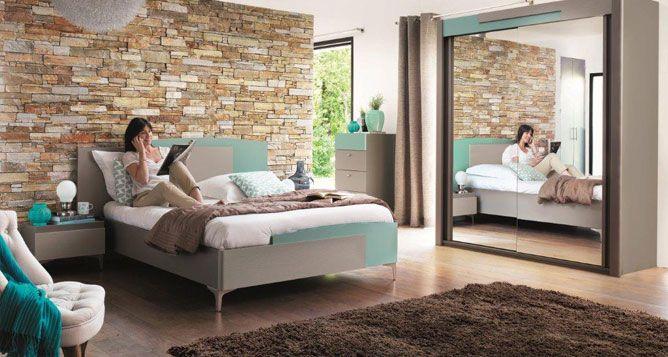 Chambre à coucher contemporaine Color