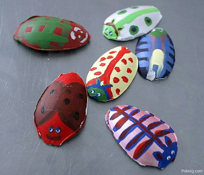 Bugs: Bugs Fun, Kindergarten Crafts, Plastic Spoons, Kids Crafts, Bugs Magnets, Spoons Bugs, Paintings Spoons, Bugs Crafts, Bugs Insects