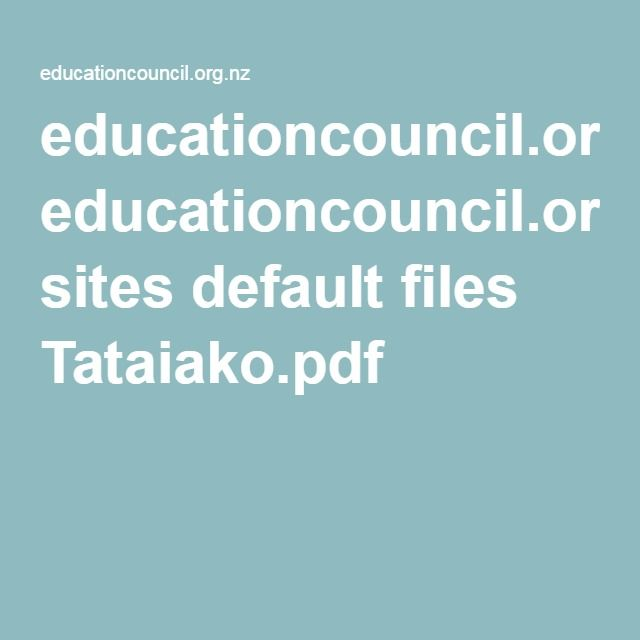 Tataiako - teacher competencies using a Maori perspective. Worth revisiting regularly to keep it fresh in my mind.
