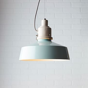 Kranen/Gille Ceramic Pendant #westelm.  Love this color for home accents!  So pretty!