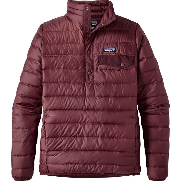Patagonia - Down Snap-T Pullover Jacket - Women's - Drumfire Red