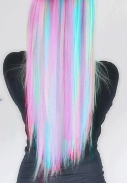 multi colored hair.