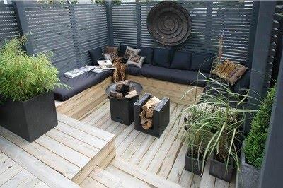 Familjen Villa Grande: Utomhus lounge, platsbyggd soffa